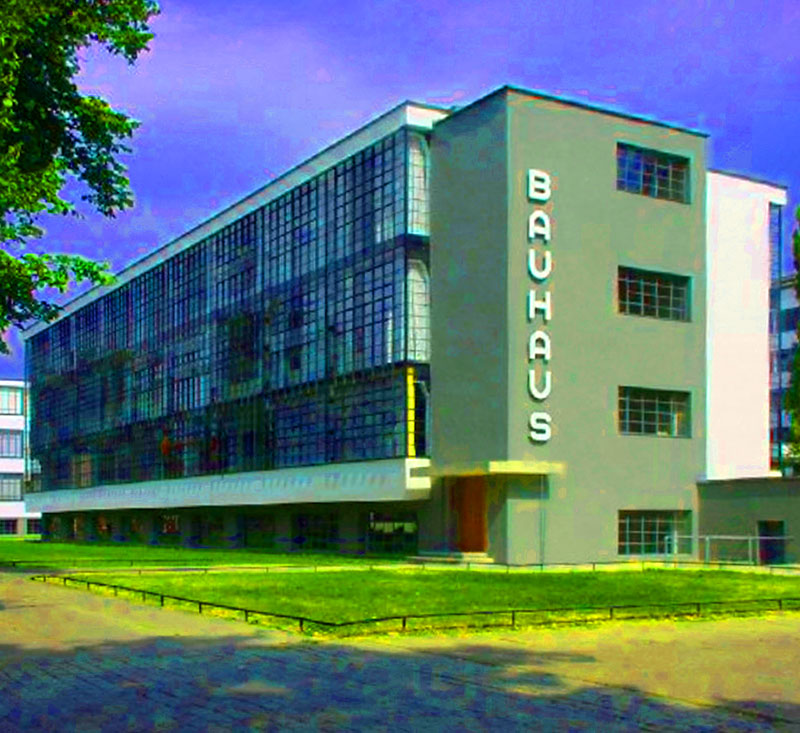 Bauhaus school in Weimar Germany