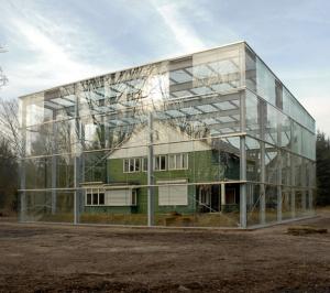 glass box house