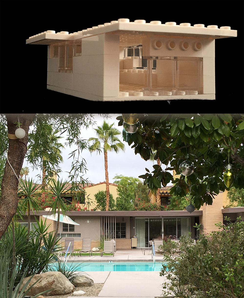 Modernist house and lego house