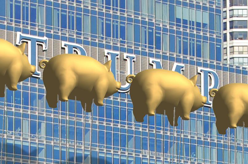 Trump Pigs Balloons