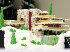 FAllingwater by Frank Lloyd Wright Gingerbread house