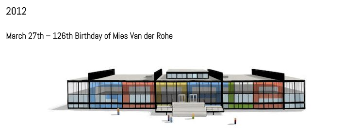 Google Doodle from March 27 2012 to honor Mies Van der Rohe