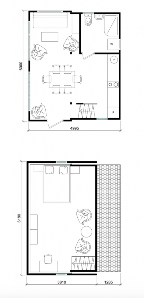 Floor plan for Brette Haus