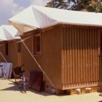 japanese disaster relief project house of paper logs
