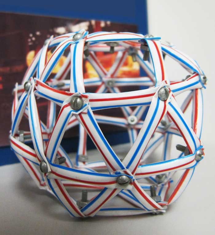 Geodesic dome with straws