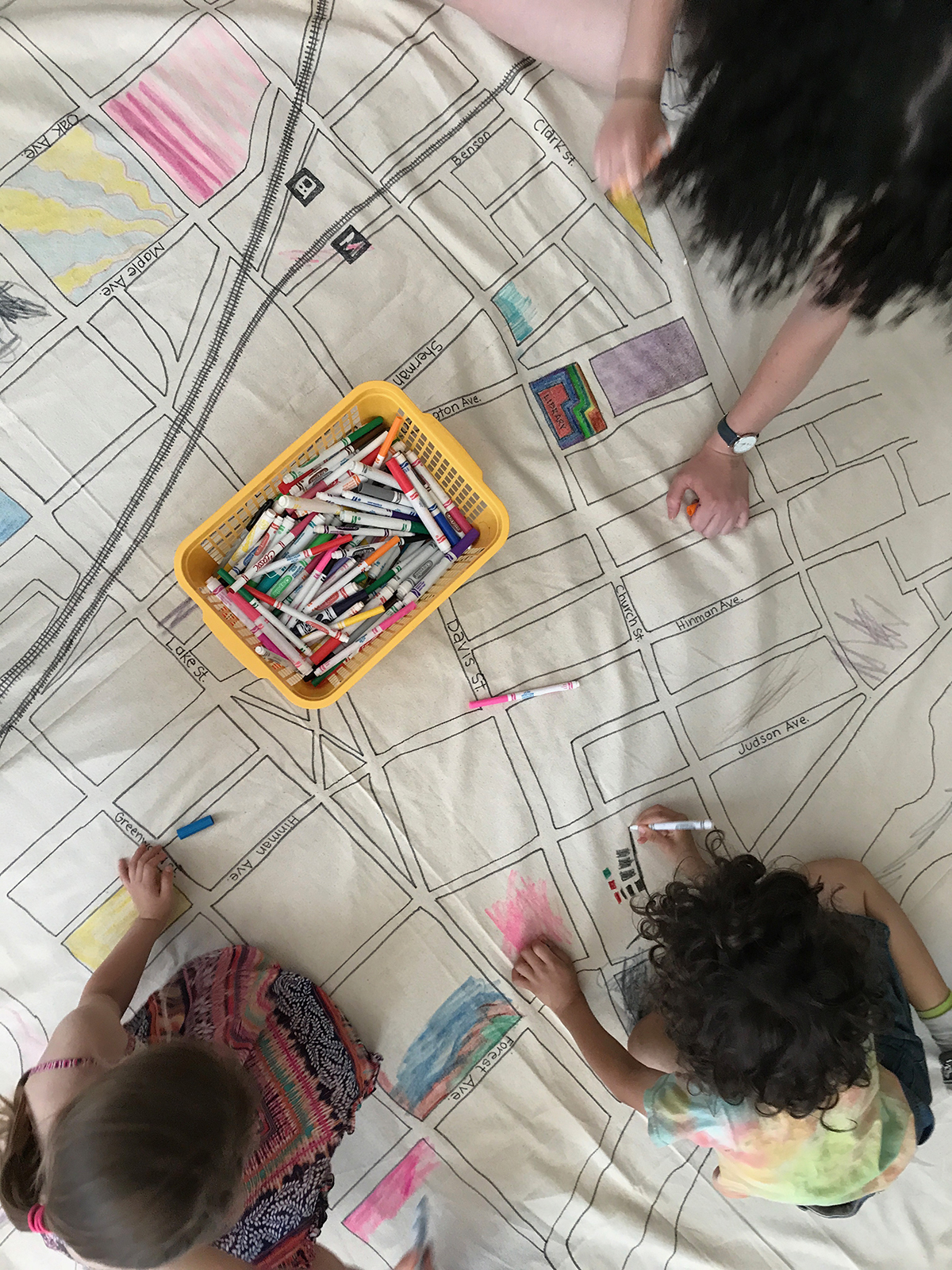 evanston map making with children for archKIDecture