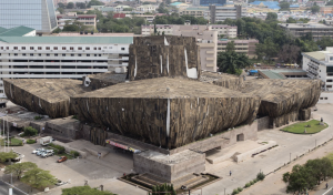 Ibrahim Mahama wrapped Accra National Theater photo