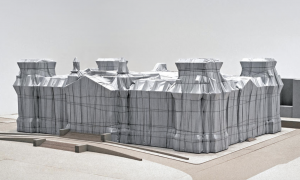 Reichstag covered by Christo and jean claude