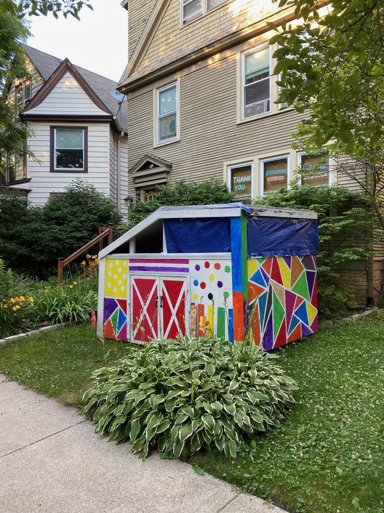 homenmade kid's house in Evanston