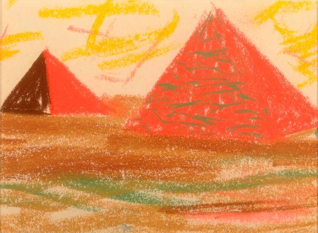 louis kahn drawing of pyramids
