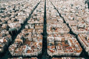 Barcelona photograph overhead