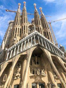 Gaudi Church in Barcelona under construction