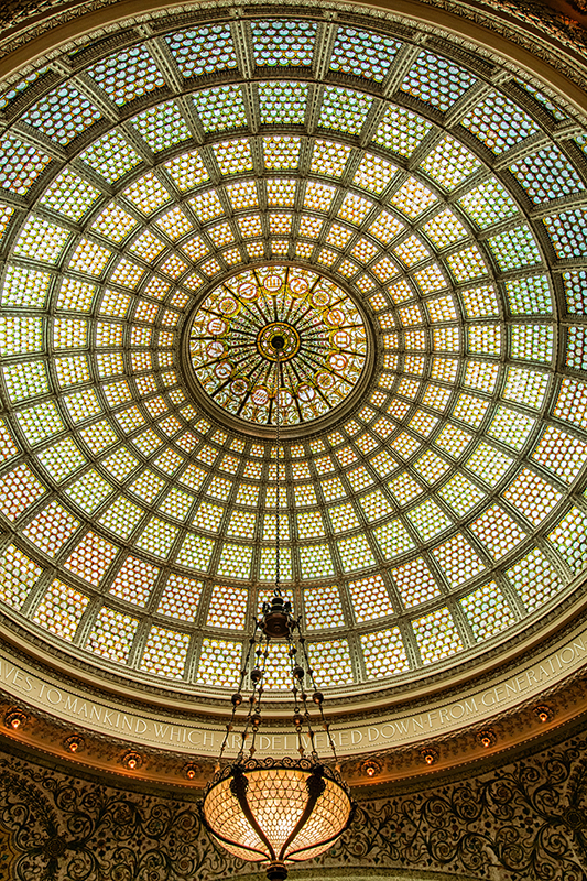 The Tiffany Dome in the Chicago Cultural Center