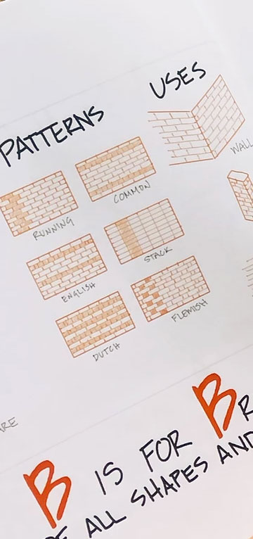 patterns page from Little Architects Book