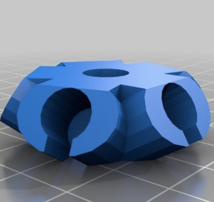 3-D Printed Vertices for building Geodesic Domes